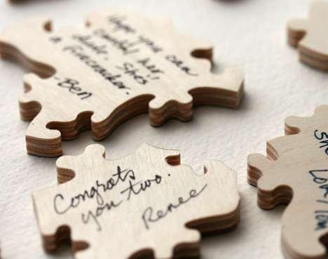 wedding puzzle guest book