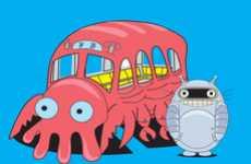 Cross Continent Cartoon Mash-Ups - Jose Armillas Nieves Melds 'My Neighbor Totoro' with 'Futurama'