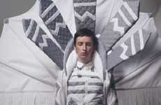 Artist TEED Wears Strictly Dino-Inspired Headwear