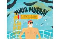 Comedian-Inspired Activity Books - The 'Thrill Murray' Coloring Book is a Tribute to Bil