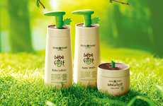 Budding Skincare Branding - Bebe de Foret Packaging Embodies the Leafy Accents of Sprouts in Soil