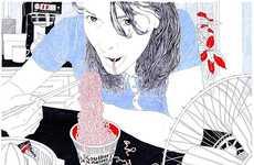 Ballpoint Pen Illustrations