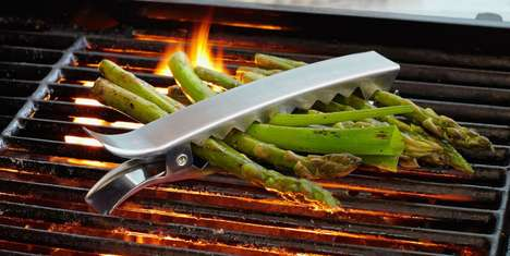 Dutiful Barbeque Clamps - The Vegetable Grill Clips Let You Enjoy Healthy Side Dishes