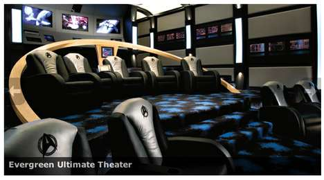 Star Trek-Themed Theaters - The Evergreen Ultimate Theater is Impressively Geeky