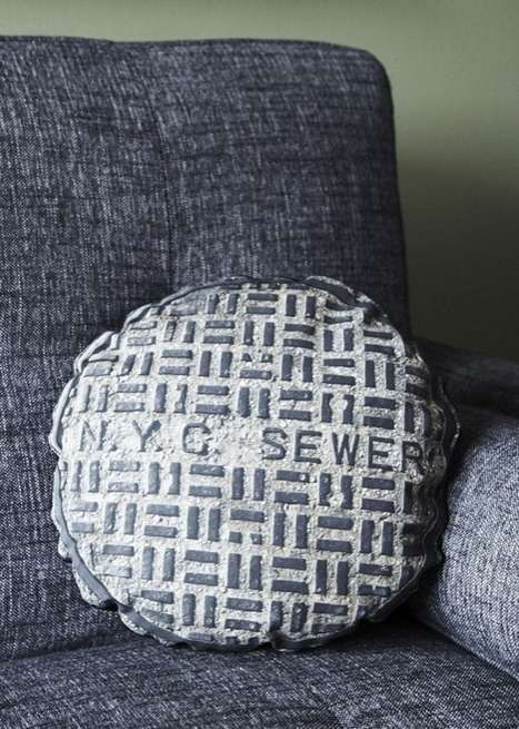 nyc sewer cover pillow