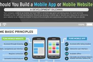 The 'Should You Build a Mobile App or Mobile Website' Infographic