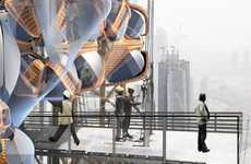 Parasitic Workman Lodgings - Urban Nomadic Scaffolding Makes Construction Sites Temporary Condos