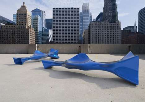 Tube Bench by Peter Donders