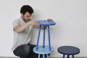 The Paul Menand Modest Stool is Covertly Designed