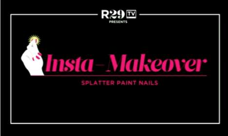 refinery 29 splatter paint nails