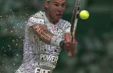 Typographic Tennis Players
