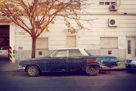 Abandoned Vintage Automobiles - The Palermo Viejo Series by Eduardo Fialho is Rusty and Beautiful