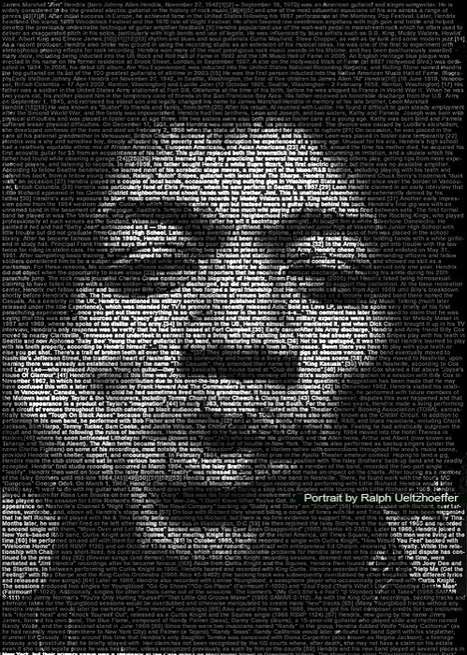 Wordy Pop Culture Portraits - Textportraits by Ralph Ueltzhoefer Speak Volumes