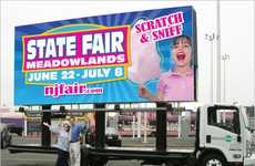 Aromatic Mobile Ads - The New Jersey State Fair Cotton Candy Billboards Emit a Sweet Scent
