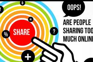 The 'Are We Sharing Too Much Online?' Infographic Assesses Privacy