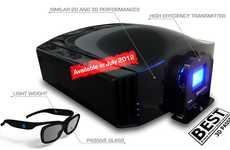 High-Contrast 3D Projectors - The 'Inti BEST' by Dream Vision Delivers Incredible Qualit
