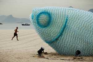 The Fish Sculptures on Botafogo Beach Promotes Sustainability