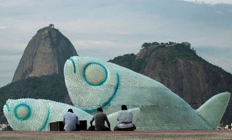 fish sculptures on botafogo beach