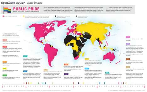Worldwide Pride Parade Charts - This LGBT Infographic Shows How It's Celebrated Around the Globe