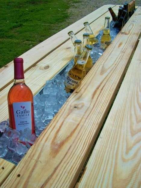 beer gutter picnic table