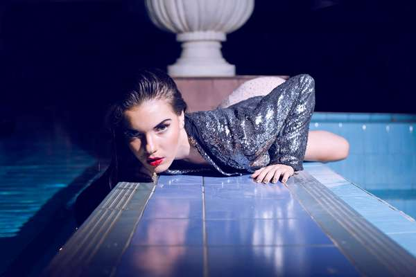 Sequinned Poolside Photoshoots 5