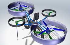 Helicopter Bicycles - The FBike Concept Allows Long Leaps to Avoid Traffic Congestions