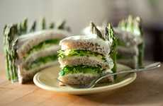 Disguised Stacked Lunches - The Layered Sandwich Cake is Savory Despite its Sweet Profile