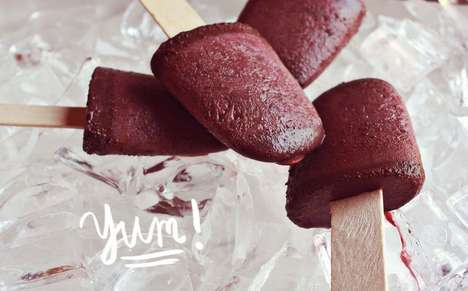 Red Wine Ice Pops - The 'A Beautiful Mess' Blog Shows How to Make Delicious Fudgesicles