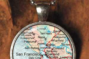 The Vintage Map Necklace is a Great Hometown Reminder
