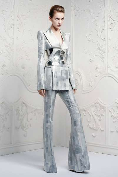 Galactic Androgynous Pantsuits - The Alexander McQueen Resort 2013 Collection is Boldly Tailored