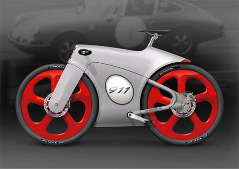 Supercar-Inspired Bikes - The Bastiaan Kok Porsche Bicycle is Sleek like Its Original