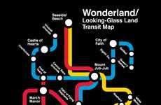 Rabbit Hole Navigation Gear - The Alice in Wonderland Subway Map is Inspired by the Classic Story
