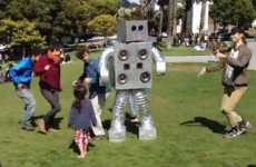 Robotic Rap Dancers - Dance Party Robot Brings the Party to San Francisco
