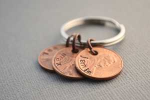 The Family Penny Keychain by TheCopperFox Puts Pennies to Good Use