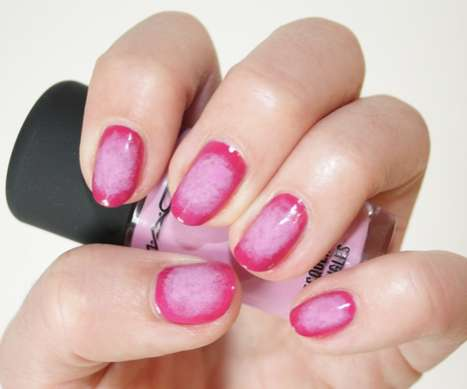 fashion magazine ombre outline manicure