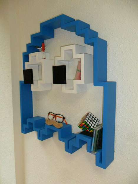 3d ghost shelf by lightyourselfup