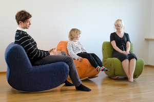 Perhe Chair Can Be Altered from a One Piece to Individual Seats