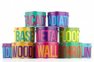 The Waldo Trommler Paint Branding Employs Bold Typography and Colors