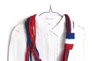 These Summer Scarves by Solandia are 4th of July Ready