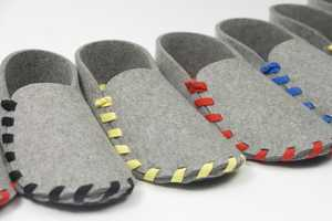 The Lasso Slippers are Made Using a Single Piece of Felt