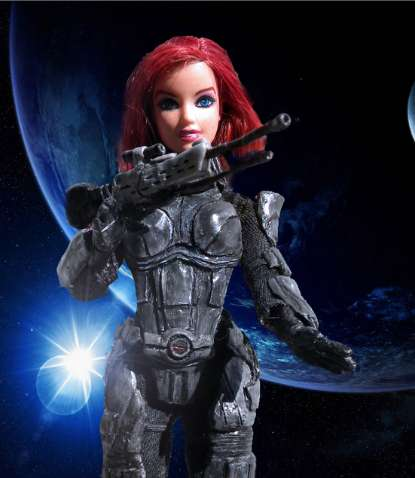 Space Captain Barbie Dolls - The FemShep Figurine Puts GI Joe To Shame With Her Action-Ready Gusto