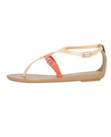 dollhouse color block jelly sandal