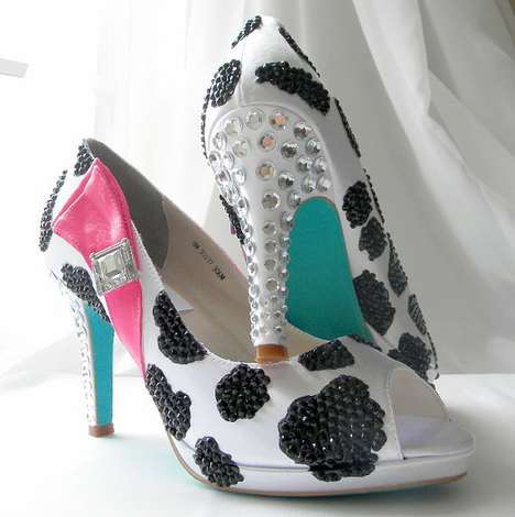 cow printed footwear the nora karen shoe collection is hand painted