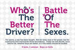 Creditplus Cars Makes an Infographic on the Battle of the Sexes