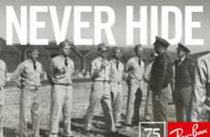 Interactive Eyewear Timelines - Ray Ban 'Legends Never Hide' Campaign Inspired by Real-Life Stories