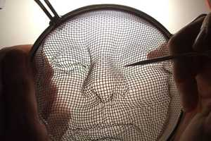 The Isaac Cordal Portaits are Made of Metal Utensils