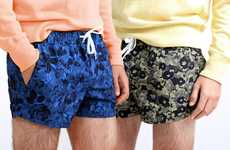Botanically Patterned Swim Trunks