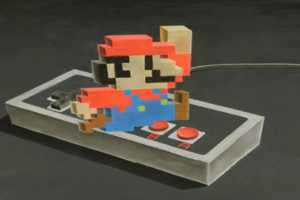 Chris Carlson Creates Nintendo Characters That Pop Out of the Ground