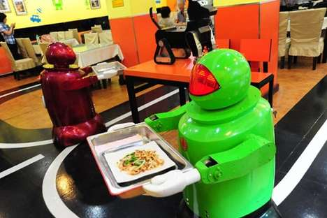 Robotic Restaurant Servers - The Harbin, Heilongjiang Robot Restaurant in China is the Future