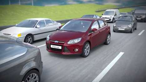 Driverless Rush Hour Devices - The Ford Traffic Jam Assist Makes Congestion Easier to Deal With